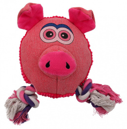 Игрушка для собак - Dog Fantasy Textile Pig, 22 cm