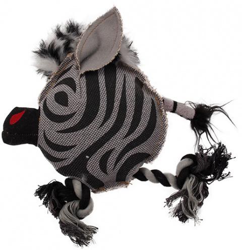 Rotaļlieta suņiem - Dog Fantasy Textile Zebra, 22 cm title=