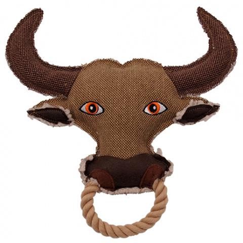 Игрушка для собак - Dog Fantasy Textile Bull, 28 cm