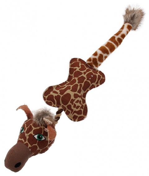 Игрушка для собак - Dog Fantasy Textile Giraffe, 52 cm