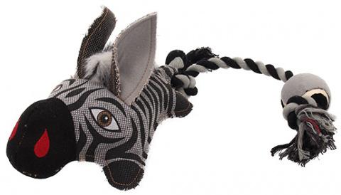 Игрушка для собак - Dog Fantasy Textile Zebra, 58 cm