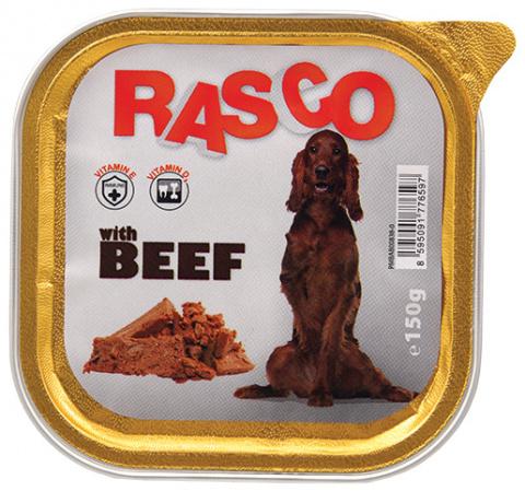 Консервы для собак - Rasco Beef, 150g title=