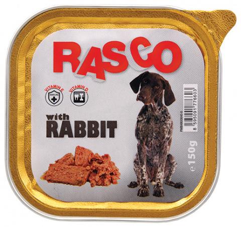 Консервы для собак - Rasco Rabbit, 150g