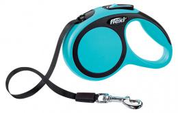 Инерционный поводок для собак - Flexi New Comfort Tape Leashes XS 3 m, цвет - синий
