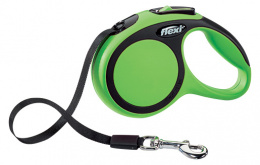 Inerces pavada suņiem - Flexi New Comfort Tape Leashes XS 3 m, krāsa - zaļa