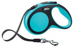 Инерционный поводок для собак - Flexi Comfort Tape S 5 м, цвет - синий