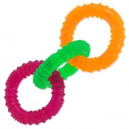 Игрушка для собак - DogFantasy Резиновая игрушка, 3 цветных кольца, 16cm