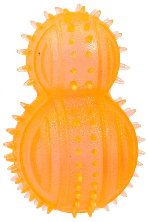 Игрушка для собак - DogFantasy Резиновая игрушка, кегля, оранжевый, 8cm