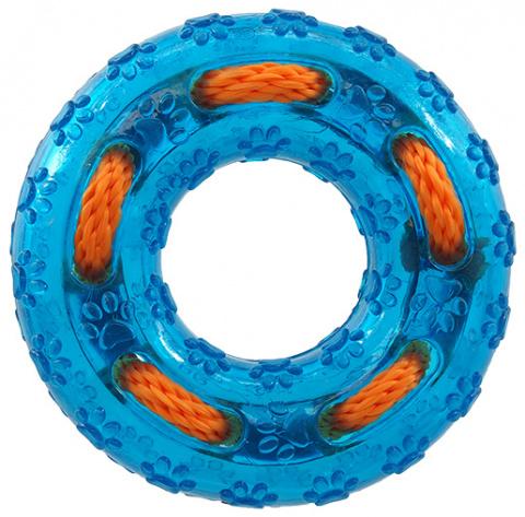 Игрушка для собак - Dog Fantasy резиновая игрушка, кольцо, цвет - зеленый, 12 cм