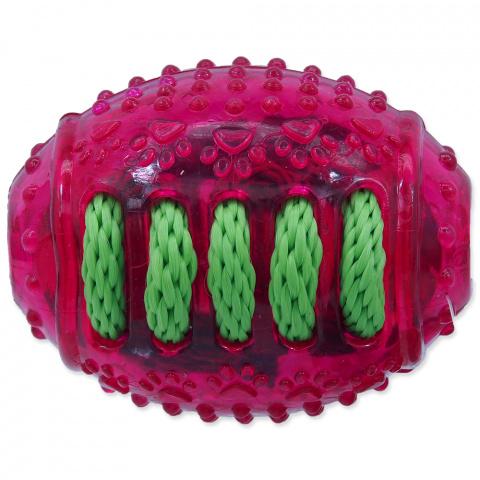 Rotaļlieta suņiem -  DogFantasy Gumijas rotaļlieta, regbija bumba, rose, 8cm