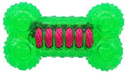 Rotaļlieta suņiem -  DogFantasy Gumijas rotaļlieta, kauls, zaļa, 12cm