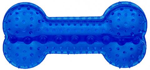 Rotaļlieta suņiem -  DogFantasy Gumijas rotaļlieta, kauls, zila, 12cm
