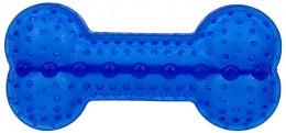 Rotaļlieta suņiem -  DogFantasy Gumijas rotaļlieta, kauls, zila, 17cm