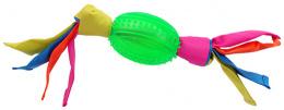 Игрушка для собак - DogFantasy Резиновая игрушка, овальный мяч из ткани, зеленый, 43cm
