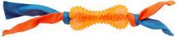 Игрушка для собак - DogFantasy Резиновая игрушка, кость с тканью, оранжевый, 31cm