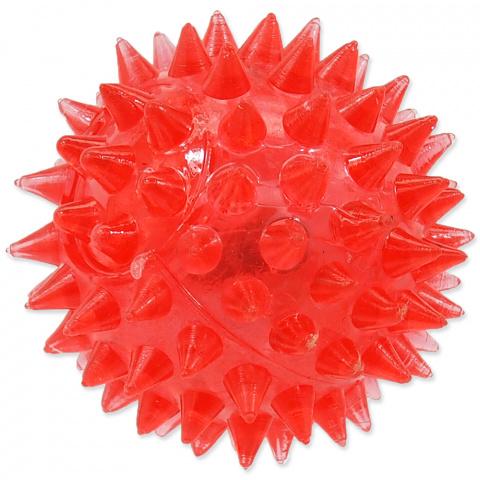Игрушка для собак - DogFantasy Резиновая игрушка, Led мяч, розовый, 5cm