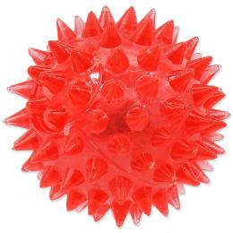 Rotaļlieta suņiem -  DogFantasy Gumijas rotaļlieta, Led bumba, rozā, 5cm