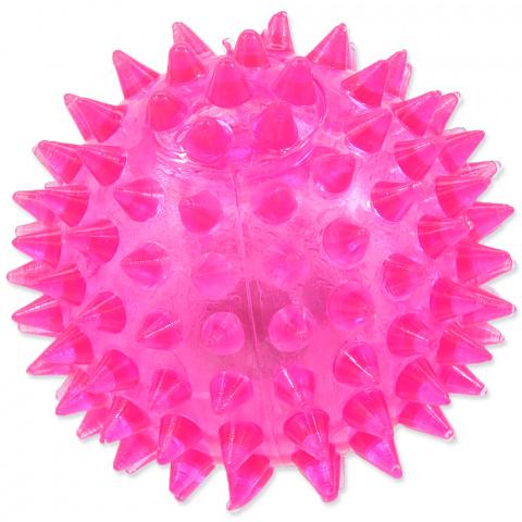 Rotaļlieta suņiem -  DogFantasy Gumijas rotaļlieta, Led bumba, zaļa, 6cm