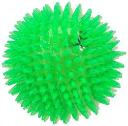 Rotaļlieta suņiem -  DogFantasy Gumijas rotaļlieta, Led bumba, zaļa, 10cm