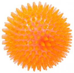 Игрушка для собак - DogFantasy Резиновая игрушка, Led мяч, оранжевый, 10cm
