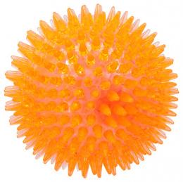 Rotaļlieta suņiem -  DogFantasy Gumijas rotaļlieta, Led bumba, oranža, 10cm