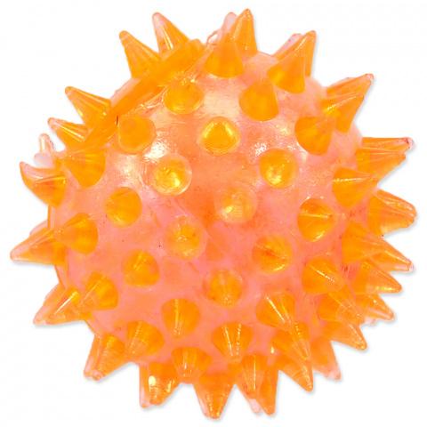 Игрушка для собак - DogFantasy Резиновая игрушка, пищащий мяч, оранжевый, 5cm title=