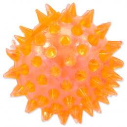 Rotaļlieta suņiem -  DogFantasy Gumijas rotaļlieta, bumba ar skaņu, oranža, 5cm