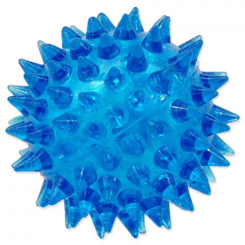 Rotaļlieta suņiem -  DogFantasy Gumijas rotaļlieta, bumba ar skaņu, zila, 5cm