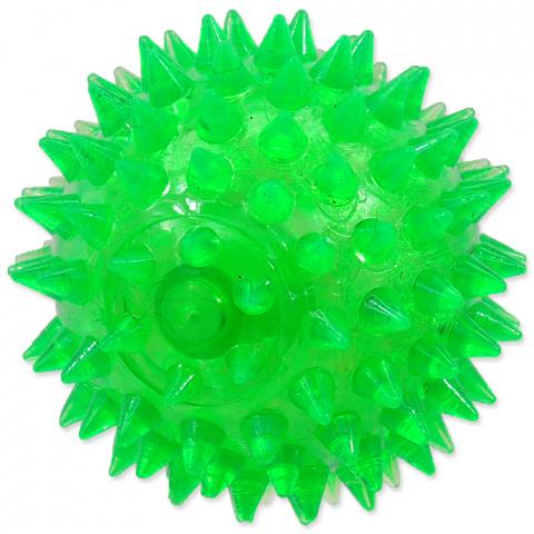 Игрушка для собак - DogFantasy Резиновая игрушка, пищащий мяч, зеленый, 8cm title=