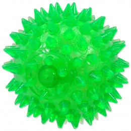 Rotaļlieta suņiem -  DogFantasy Gumijas rotaļlieta, bumba ar skaņu, zaļa, 8cm