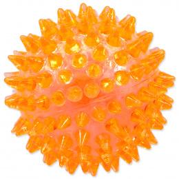Rotaļlieta suņiem -  DogFantasy Gumijas rotaļlieta, bumba ar skaņu, oranža, 8cm