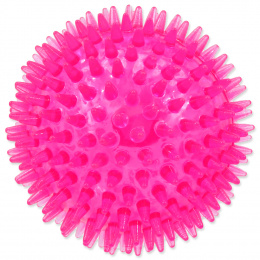 Rotaļlieta suņiem -  DogFantasy Gumijas rotaļlieta, bumba ar skaņu, rozā, 10cm