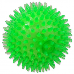 Rotaļlieta suņiem -  DogFantasy Gumijas rotaļlieta, bumba ar skaņu, zaļa, 10cm