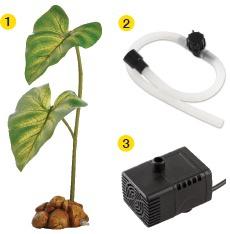 Dekors terārijam - Exo Terra Dripping Plant Large / ūdens lāses veidojošs augs