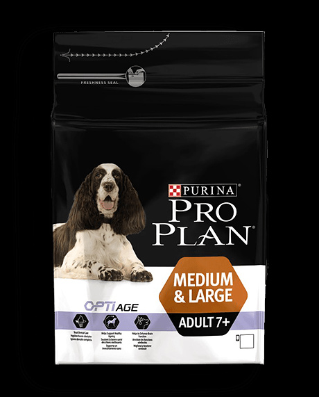 Barība suņiem - Pro Plan Medium & Large Adult 7+ Chicken, 14 kg