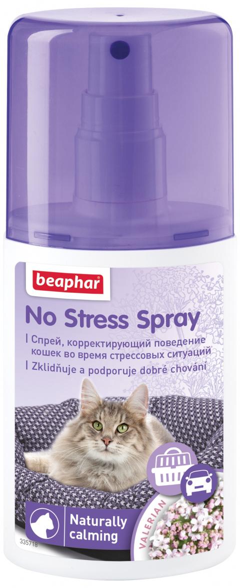 Nomierinošs aerosols kaķiem - Beaphar, No Stress Spray, 125 ml title=