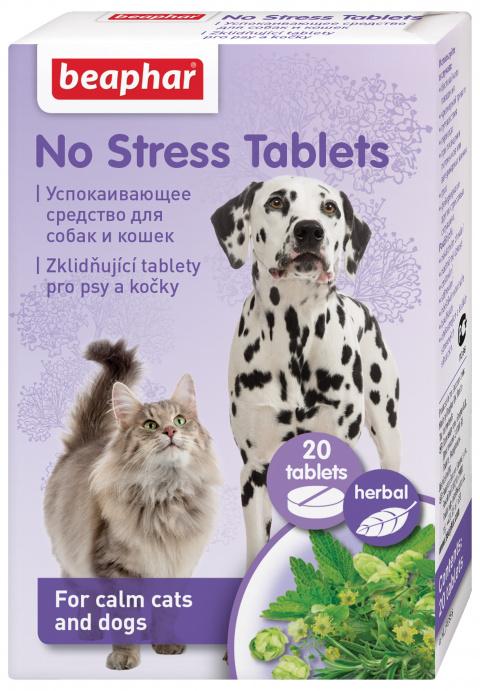 Nomierinošs līdzeklis suņiem un kaķiem - Beaphar No stress Tablets Dog/Cat, 20 tbl.
