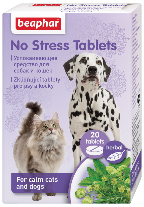 Успокоительное для собак и кошек - Beaphar No stress Tablets Dog/Cat, 20 таб. title=