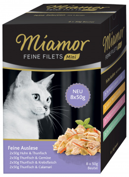 Консервы для кошек - Miamor Feine Filets Multibox Feine Auslese, 8x50 г