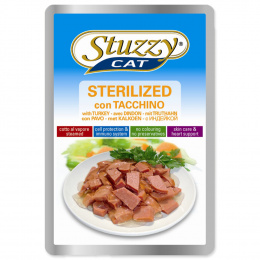 Konservi kaķiem - Stuzzy Cat sterilized, ar tītara gaļu, 100 g