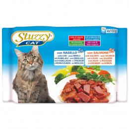 Konservi kaķiem - Stuzzy Cat multipack, ar mencu un lasi, 4*100 g