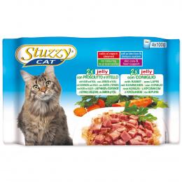 Консервы для кошек - Stuzzy Cat multipack, с ветчиной и телятиной, кроликом, 4*100 г