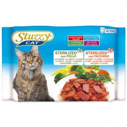 Konservi kaķiem - Stuzzy Cat multipack Sterilized Chicken and Turkey, 4 x 100 g