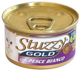 Консервы для кошек - Stuzzy Cat Gold, с филе белой рыбы 85g