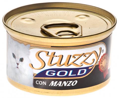 Консервы для кошек - Stuzzy Cat Gold, с говядиной 85 g
