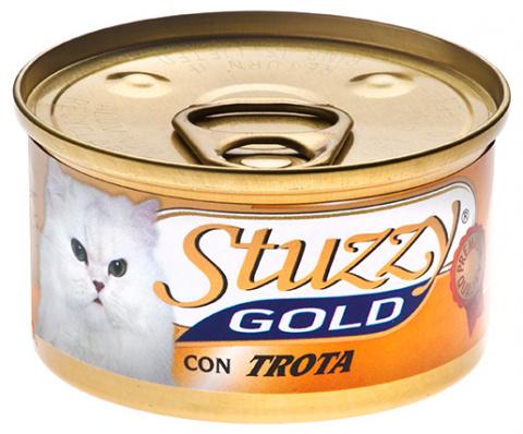 Konservi kaķiem - Stuzzy Cat Gold, ar foreli 85g