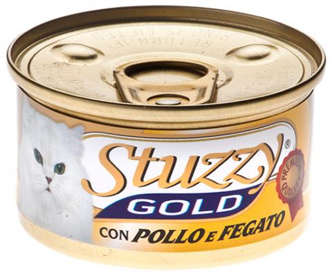 Konservi kaķiem - Stuzzy Cat Gold, ar vistu 85g