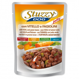 Konservi suņiem - Dog pouch STUZZY Veal and Green Beans in Jelly, 100 g