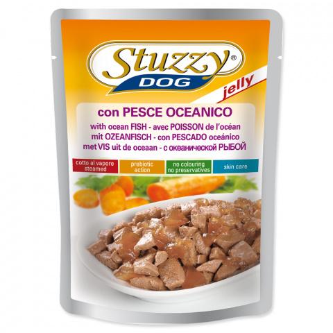 Konservi suņiem - Dog pouch STUZZY Ocean Fish in Jelly, 100 g title=