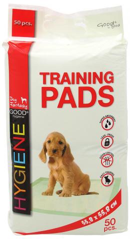 Absorbējošie paladziņi – Dog Fantasy Training Pads, 55,8 x 55,8 cm, 50 gab.